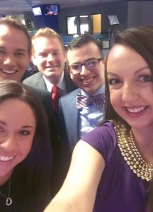 Post filming selfie with the MCRYP members and NBC 12 News reporter Brian West.